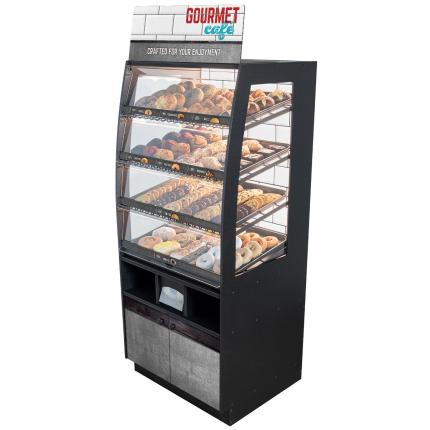 """Gourmet Cafe"" Bakery Case: Floor-Standing with Premium LED Back Panel"