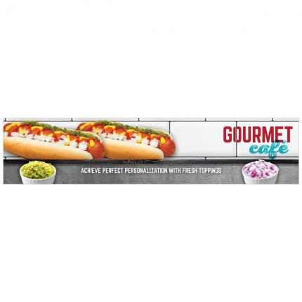"""Gourmet Cafe"" Roller Grill Promo Panel Insert"