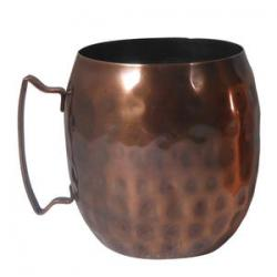 14 oz. Hammered Copper Moscow Mule Mug - Case of 12