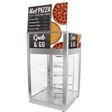 """Hinterland Dark"" 695D Pizza Merchandiser with Rotating Shelves"