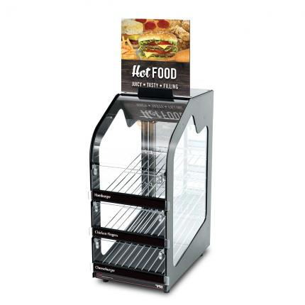 """Hinterland Dark"" Hot Food Wisco 791 Slim Warming Merchandiser"
