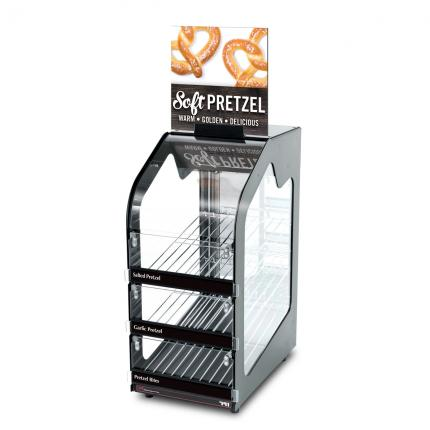"""Hinterland Dark"" Soft Pretzel Wisco 791 Slim Warming Merchandiser"