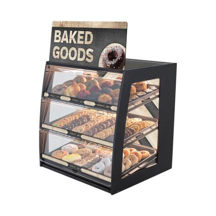 """Modern Minimal"" Bakery Case: Wide Countertop with Premium LED Back Panel"