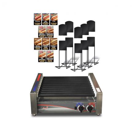 Small APW Roller Grill with Flavor ID Kit