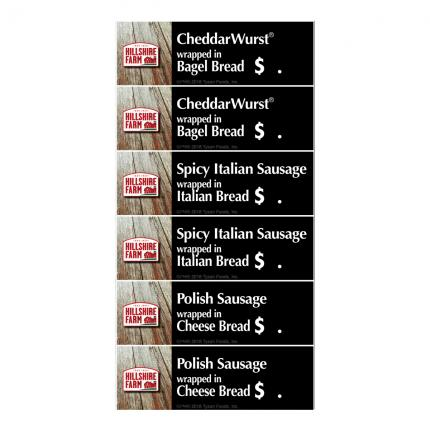 Warmer Menu Strip - Hillshire Farm - Set of 6