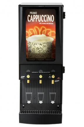 Wilbur Curtis 3 Station Primo Cappuccino Dispenser with Lightbox