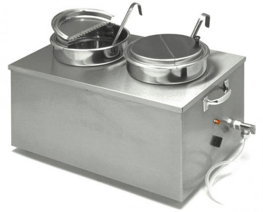APW Wyott 22 Qt. Insulated Soup Cooker/Warmer with Drain