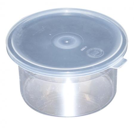 Carlisle Classic Crock .6qt Clear Canister with Li