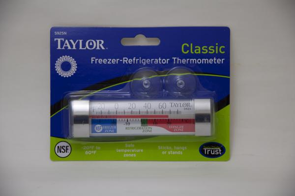 Taylor Freezer-Refrigerator Thermometer 5925N (pac