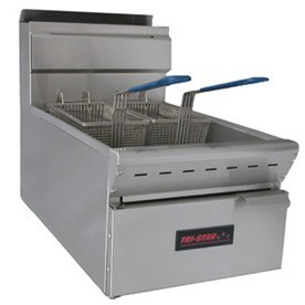 TRI-STAR 25lb Capacity Countertop Gas Fryer