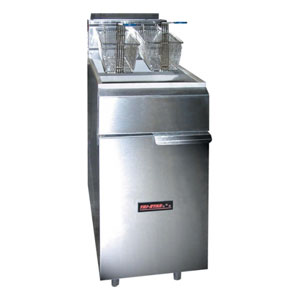 TRI-STAR 40-50 Lb Capacity Fryer - Floor Model