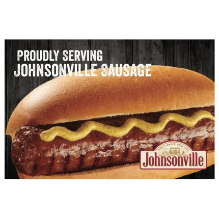 "POS - ""Proudly Serving Johnsonville Sausage"" Generic Ultimate Cling"