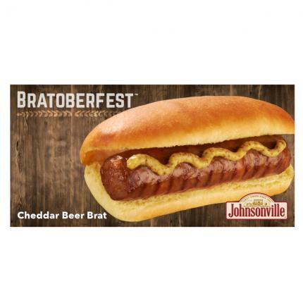 "POS - Johnsonville ""Bratoberfest"" Cheddar Beer Brat Pump Topper"